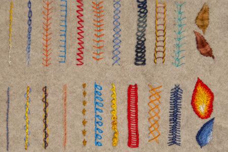 Hand stitch types textile school
