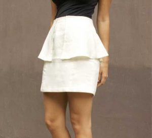 Skirt with peplum